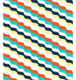Seamless bright abstract wave pattern Stock Images