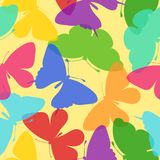 Seamless bright background of butterflies Royalty Free Stock Images