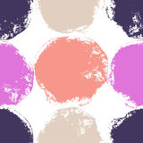 Seamless bright background. Decorative pattern with drawn circles Royalty Free Stock Photo