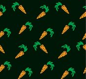 Seamless bright background. Orange carrots on a background Stock Photos