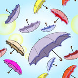 Seamless bright background with umbrellas Stock Photography