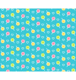 Seamless bright childish abstract pattern with lollipop Stock Photos