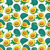 Seamless bright color avocado Stock Photos