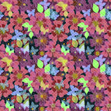 Seamless bright colorful floral background pattern print. Seamless bright colorful floral background pattern texture print Royalty Free Stock Photography