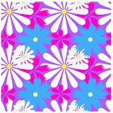 Seamless bright colorful floral pattern Royalty Free Stock Photography