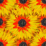 Seamless bright colors tropical floral pattern royalty free illustration