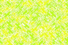 Seamless bright emerald shapes and dots plating wrapping pattern Stock Photography
