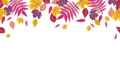 Free Seamless Bright Fall Autumn Sumac Leaves Border 1 Stock Photography - 100806442