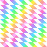 Seamless bright festive pattern of iridescent diagonal and horizontal stripes. Of equal thickness, forming white quadrilaterals for the holiday or Stock Images