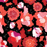 Seamless bright floral pattern Royalty Free Stock Image