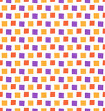 Seamless bright fun abstract mosaic pattern isolated on white Royalty Free Stock Photo