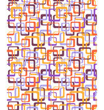Seamless bright fun abstract pattern with squares isolated on wh Stock Images