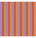 Seamless bright fun abstract vertical knitted pattern isolated o Stock Images