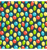Seamless bright fun celebration festive air balloons pattern iso Stock Photos