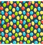 Seamless bright fun celebration festive air balloons pattern iso. Seamless bright fun celebration festive air balloons pattern  on blue background Stock Photos