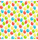 Seamless bright fun celebration festive air balloons pattern iso. Lated on white background Royalty Free Stock Photos