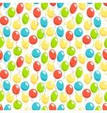 Seamless bright fun celebration festive air balloons pattern iso Royalty Free Stock Photos