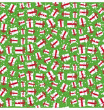 Seamless Bright Fun Christmas Winter Pattern with Gift Boxes in Royalty Free Stock Images