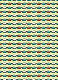 Seamless bright fun horizontal abstract pattern isolated on yell Stock Photo