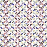 Seamless bright geometric circle pattern. Stock Photography