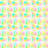 Seamless bright geometric repeating pattern of rectangles. Vector. stock illustration