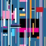 Seamless bright geometric stripes pattern Royalty Free Stock Photography
