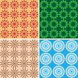 Seamless bright geometric textures - vector Stock Image