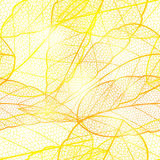 Seamless bright golden autumn leaf background. Glittering golden. Shimmering bright pattern with dried leaves. Vector illustration Royalty Free Stock Image