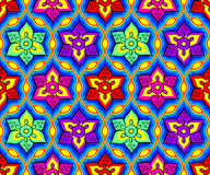 Seamless bright indian pattern Royalty Free Stock Image