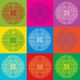 Seamless bright lace pattern Stock Photo