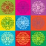Seamless bright lace pattern Stock Photo