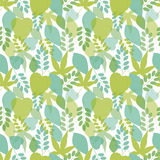 Seamless bright leaves pattern in blue colors. Vector, EPS10 Royalty Free Stock Photos
