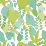 Seamless bright leaves pattern/ eps 10 Stock Image
