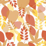 Seamless bright leaves pattern Stock Images