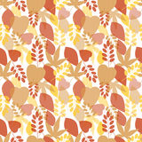 Seamless bright leaves pattern Royalty Free Stock Photos