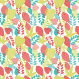 Seamless bright leaves pattern. Vector, EPS10 Stock Photography