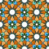 Seamless  multi-colored geometric Moroccan pattern Royalty Free Stock Photos