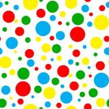 Seamless Bright Multi Polka Dot Royalty Free Stock Photos