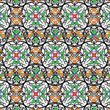 Pattern- Colored oriental ornament Royalty Free Stock Image