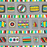 Seamless bright pattern of abstract elements Royalty Free Stock Image