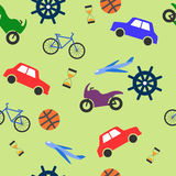 Seamless bright pattern for boys Stock Image