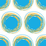 Seamless bright pattern from circles.  Royalty Free Stock Photography