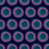 Seamless bright pattern from circles.  Stock Photography