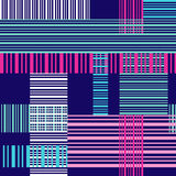 Seamless bright pattern with colorful cross lines Royalty Free Stock Photo