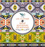 Seamless bright pattern with geometric elements in Stock Photo