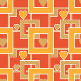 Seamless bright pattern with geometric elements hearts texture b Stock Images