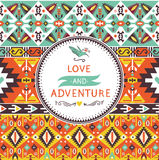 Seamless bright pattern in navajo style Royalty Free Stock Photos