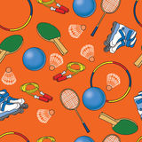 Seamless bright pattern with sport objects Royalty Free Stock Images