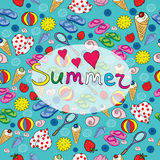 seamless pattern on a summer theme Royalty Free Stock Photo