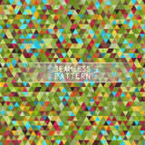 Seamless Bright Pattern of Symmetric Triangles for Covers, Templ Stock Image